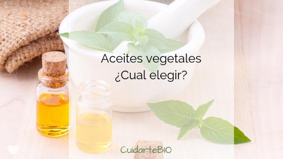Aceites Vegetales: Su composición